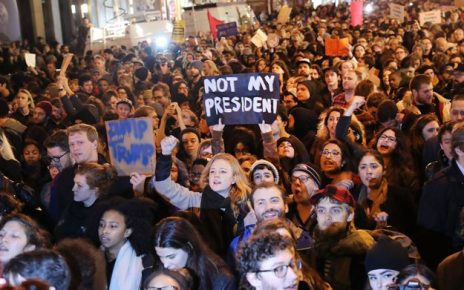Protests in USA Against Donald Trump as President 4