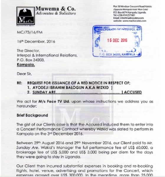 Magistrate Orders Interpol To Arrest Wizkid - Spur Magazine