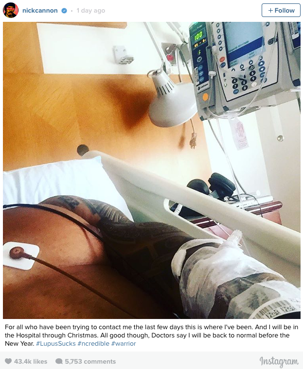 Nick Canon in Hospital Lupus christmas 2016 - Spur Magazine