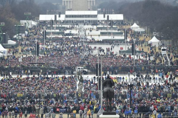 Crowds People attending Trump Swearing in inaugration - Spur Magazine