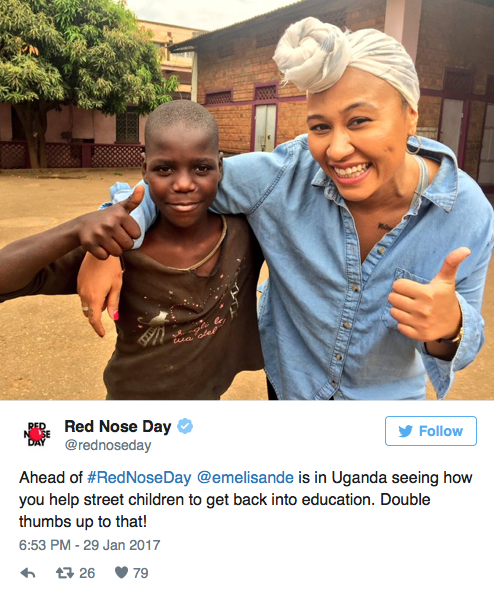 Red Nose Day Emeli Sande Uganda - Spur Magazine
