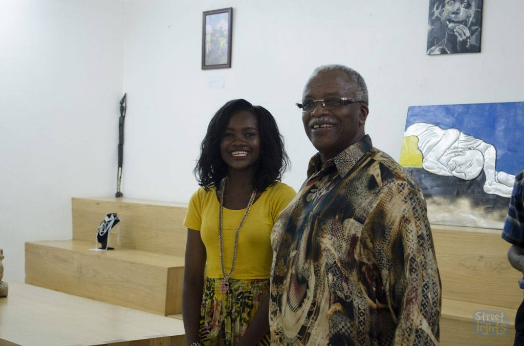 Amama Mbabazi with Vicky Merab at Unseen Me Exhibition - Spur Magazine