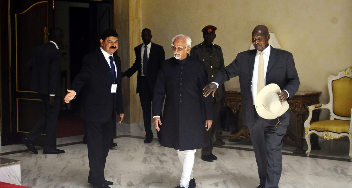 Hamid Ansari India and Museveni Uganda - Spur Magazine