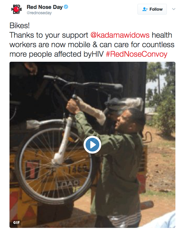Red Nose Day Bikes for HIV Uganda - Spur Magazine