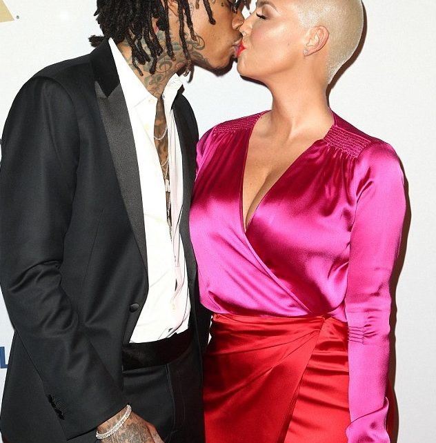 Wiz Khalifa and Amber Rose Kiss at Grammys Bash - Spur Magazine