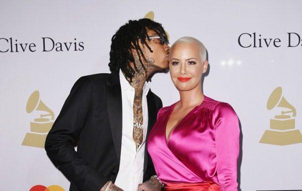 Wiz Khalifa Kisses Amber Rose Grammys 2017 - Spur Magazine