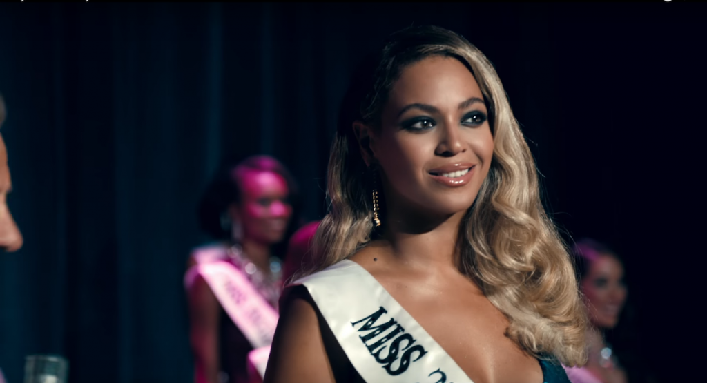 Beyonce Wearing Miss 3rd Ward Ribbon in Pretty Hurts Video - Spur Magazine