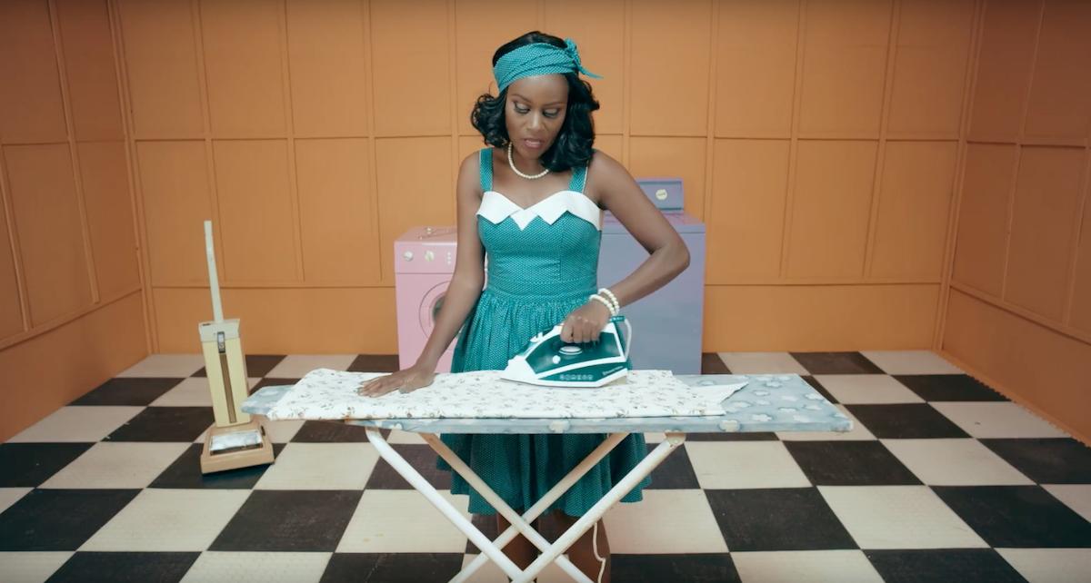 Juliana Kanyomozi Ironing in Im Still Here Video - spur Magazine