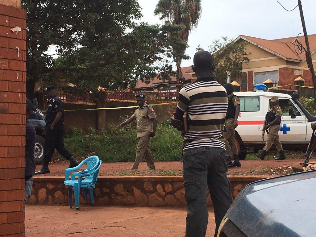 Kayihura at Scene - Felix Kaweesi Dead - Spur Magazine