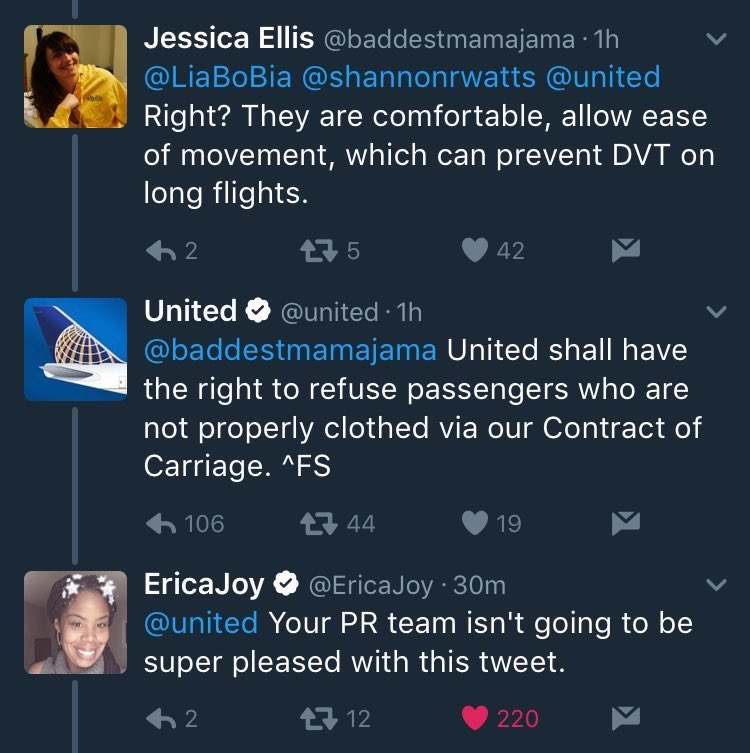 United Airlines Tweet on Refusing Leggings - Spur Magazine