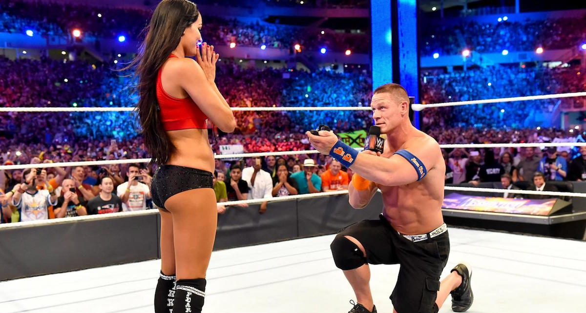 John Cena proposes to Nikki Bella WWE on one knee - Spur Magazine