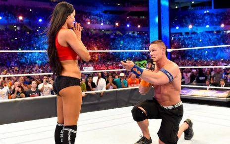 John Cena proposes to Nikki Bella WWE on one knee - Spur Magazine