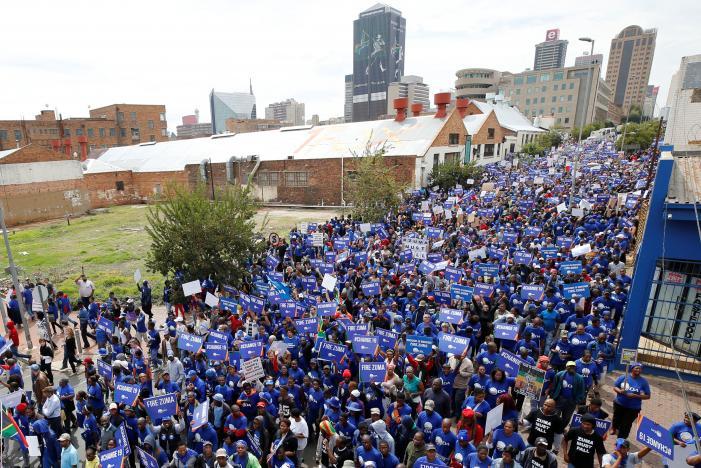 Protestors in Johannesburg against Zuma - Spur Magazine