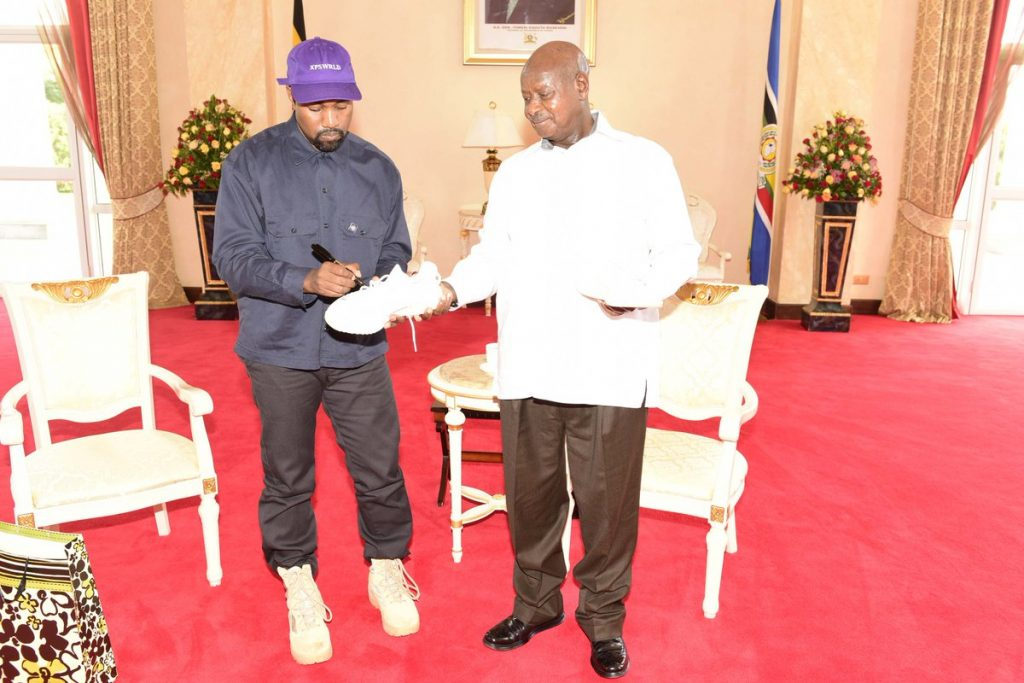 Kanye West Gives President Yoweri K Museveni Sneakers | Spurzine