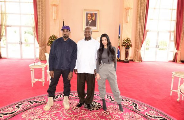 Kim Kardashian, Kanye West and Museveni at Statehouse Entebbe | Spurzine