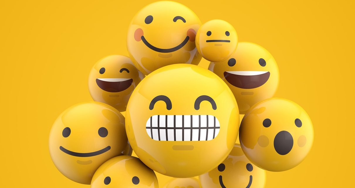 A set of emojis in yellow.