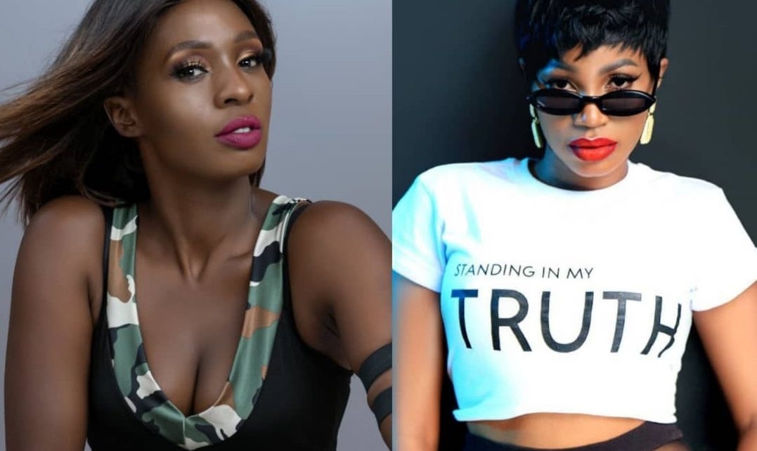 Cindy Sanyu and Sheebah Karungi make peace with another.