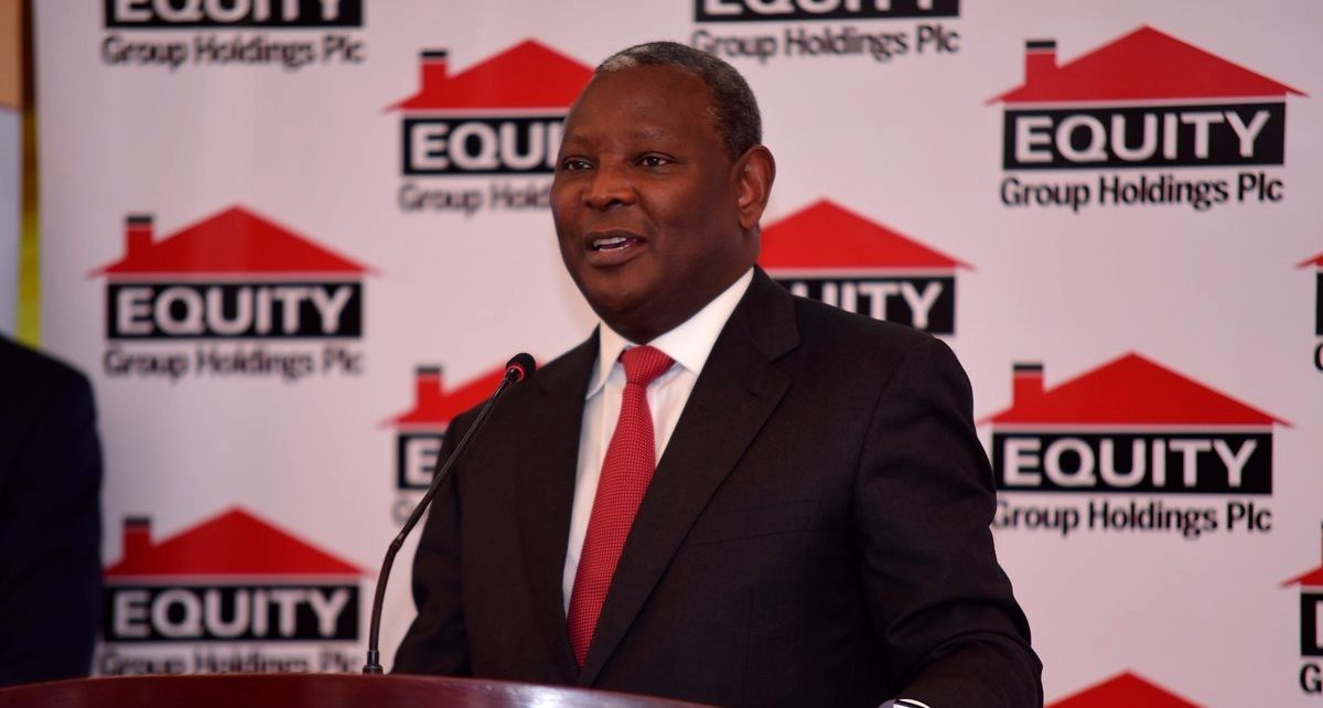 Equity Bank's Chief Executive Officer James Mwangi addresses investors. | Spurzine