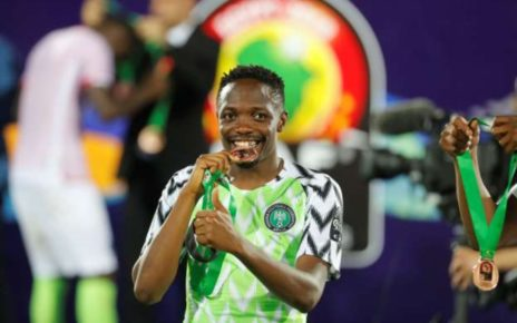 Nigeria's forward Ahmed Musa.