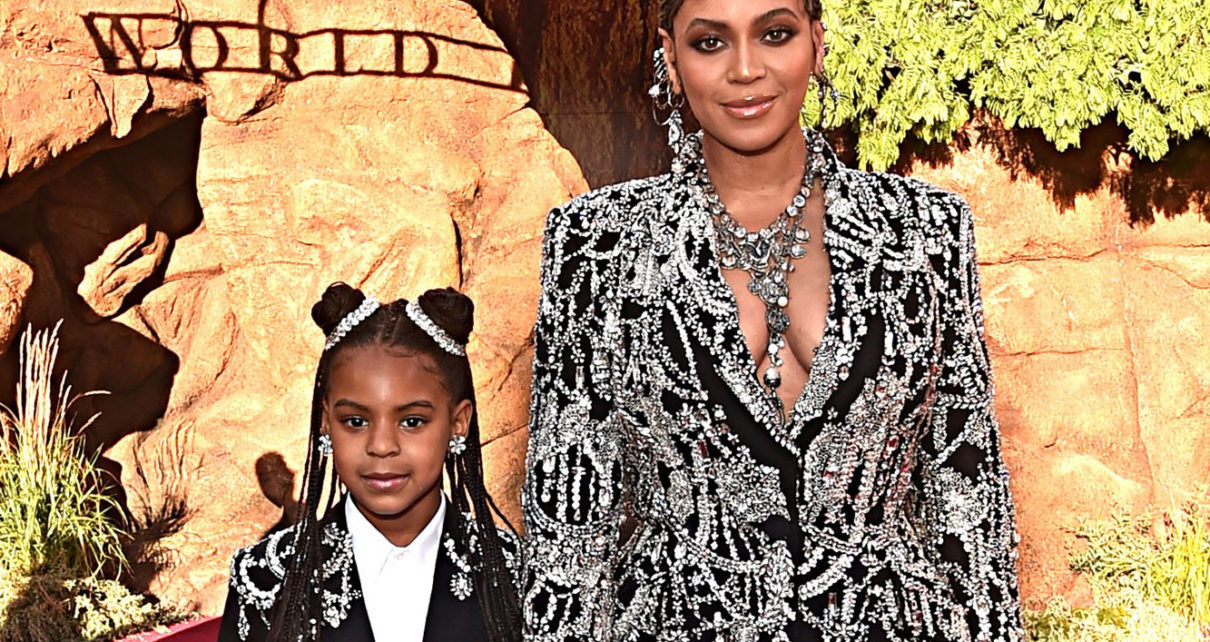 Beyonce with her daughter Blue Ivy.